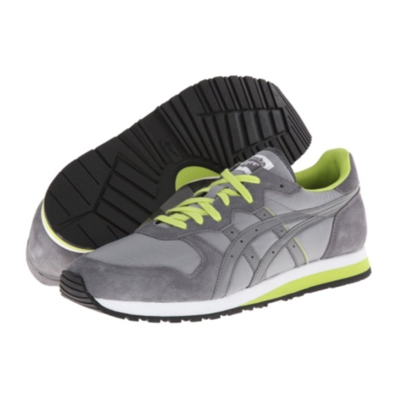 competitive price 22a5a ef0ec ONITSUKA TIGER • DL301 gray & neon green sneaker